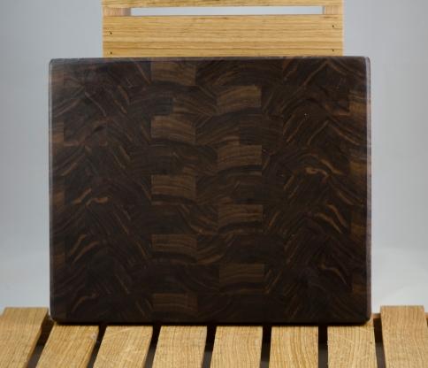 """Small Board 16 - 016. Black Walnut. End Grain. 10"""" x 11"""" x 1""""."""