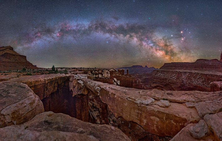The Milky Way, seen over Musselman Arch in Utah's Canyonlands National Park. Photo by David Lane. Tweeted by the US Department of the Interior, July 18, 2016.