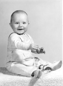 Here I am, 7 months old. 1957. Deal with it.