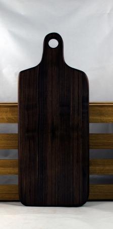 """Bread Board 16 - 10. Black Walnut. 8"""" x 20"""" x 7/8""""."""