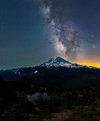 Washington's Mount Rainier National Park. Photoby Derek Culver. Tweeted by the US Department of the Interior, 7/31/16.