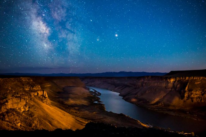 Stunning picture of the Milky Way above Idaho's Snake River Birds of Prey National Conservation Area. Tweeted by the US Department of the Interior, 8/16/16.