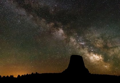 Another out-of-this-world moment at Wyoming's Devils Tower National Monument. Photo by Rip Rippey. Tweeted by the US Department of the Interior, 9/6/16.