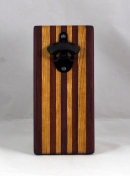 Magic Bottle Opener 16 - 131. Bubinga, Bloodwood & Cherry. Single Magic.