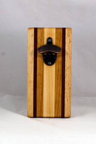 Magic Bottle Opener 16 - 137. Birdseye Maple, Bloodwood & Cherry.. Double Magic.