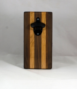 Magic Bottle Opener 16 - 141. Black Walnut, Cherry & Jatoba. Double Magic.