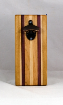 Magic Bottle Opener 16 - 143. Cherry, Hard Maple & Bloodwood. Double Magic.