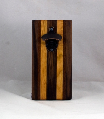 Magic Bottle Opener 16 - 148. Black Walnut, Cherry & Jatoba. Double Magic.