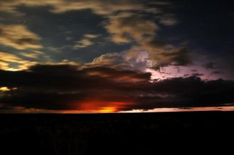 The sky over Seedskadee National Wildlife Refuge, Wyoming. Tweeted by the US Department of the Interior, 8/31/16.