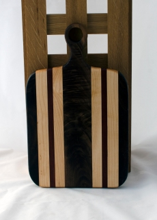 Sous Chef 16 - 021. Quilted Black Walnut, Hard Maple & Padauk. Sold in its first showing.