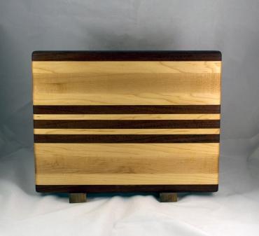 """Cutting Board 16 - Edge 027. Jatoba & Hard Maple 12"""" x 16"""" x 1-1/4""""."""
