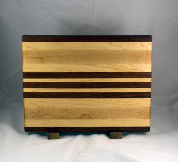 "Cutting Board 16 - Edge 027. Jatoba & Hard Maple 12"" x 16"" x 1-1/4""."