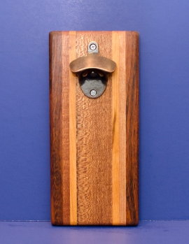 Magic Bottle Opener 16 - 154. Jatoba, Cherry & Teak. Single Magic.