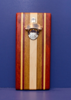 Magic Bottle Opener 16 - 156. Padauk, Hard Maple & Teak. Single Magic.