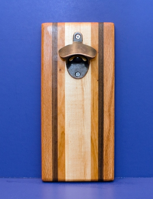 Magic Bottle Opener 16 - 158. Cherry, Black Walnut & Hard Maple. Single Magic.
