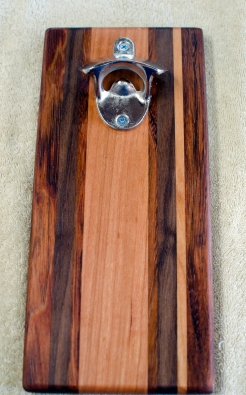 Magic Bottle Opener 182. Jatoba, Black Walnut & Cherry. Single Magic.