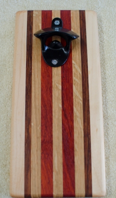 Magic Bottle Opener 186. Hard Maple, Jatoba, White Oak & Padauk. Single Magic.