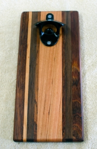 Magic Bottle Opener 193. Black Walnut, Jatoba & Cherry. Single Magic.