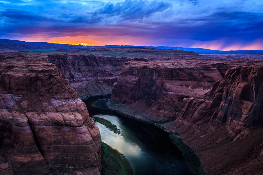 Sunset over the Glen Canyon National Recreation Area. Photo by Jeremy Stevens. Tweeted by the US Department of the Interior, 1/25/17.