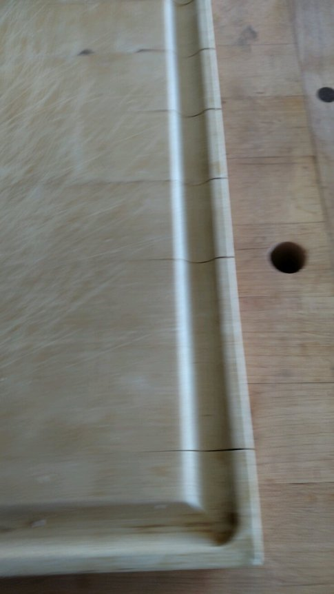 The edges of the board were cracked & the boards had a growing separation through the juice groove.