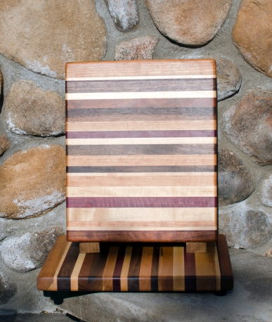 "Cheese Board 17 - 313. 8"" x 11"" x 3/4""."