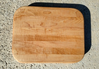 "Cutting Board 17 - 109. Hard Maple, Edge Grain. 11"" x 14"" x 1-1/8""."