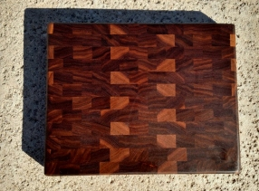 "Small Board 17 - 216. Black Walnut. End Grain. 11-1/4"" x 9-5/8"" x 1""."