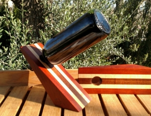 Wine Bottle Holder 17 - 02. Bloodwood, Hard Maple & Jatoba.