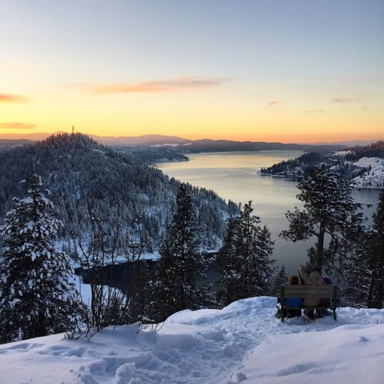 A perfect place for a winter hike: Mineral Ridge Trail at Coeur d'Alene Lake. Tweeted by the US Department of the Interior, 3/2/17.