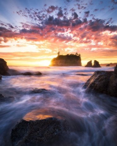 Sunset over Washington's Olympic National Park. Photo by Howard Snyder. Tweeted by the US Department of the Interior, 5/8/17.