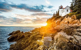 Sunset over Maine's Acadia National Park. Photo by Ian Barin. Tweeted by the US Department of the Interior, 4/30/17.
