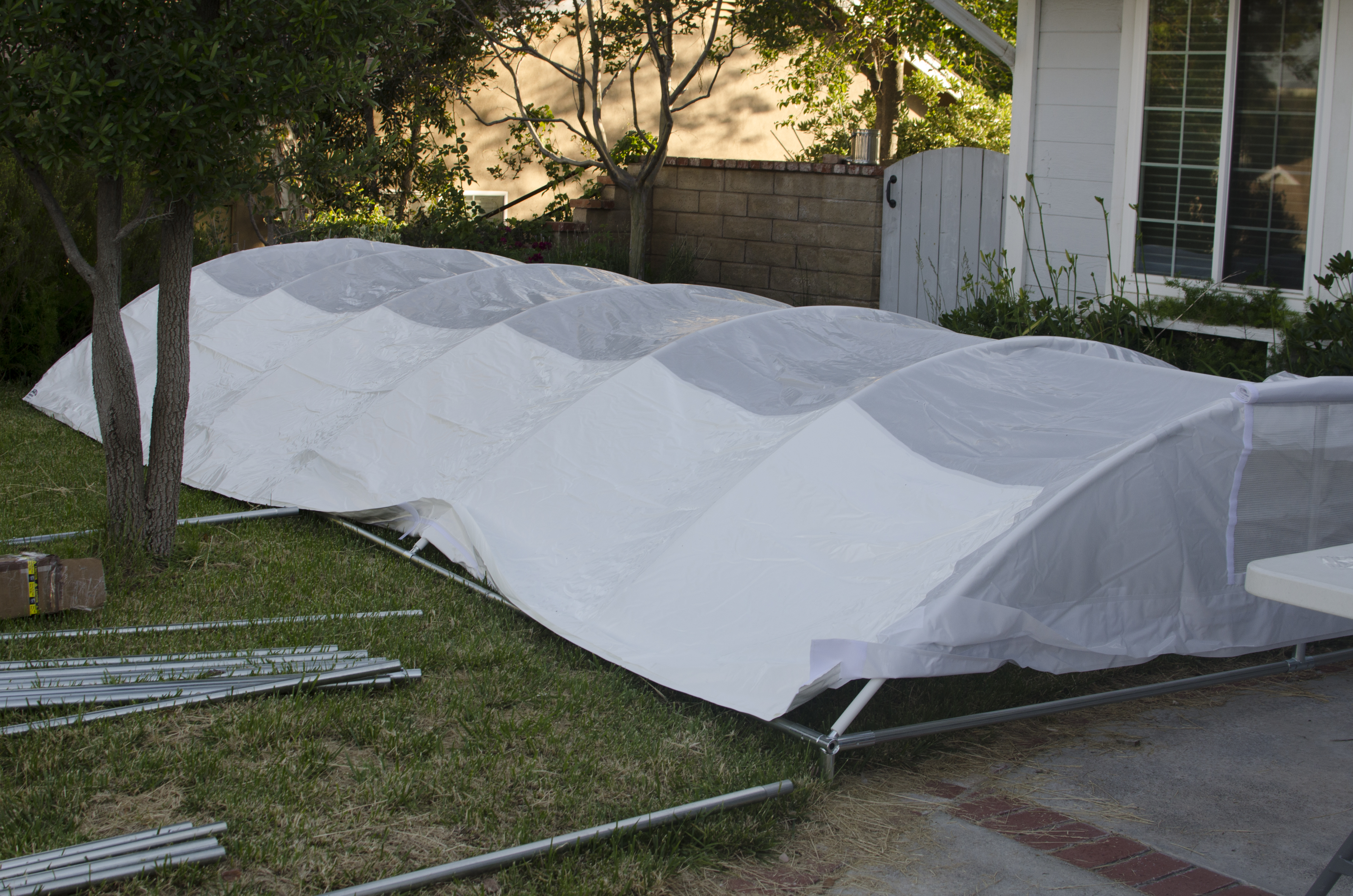 Canopy in place. & Buying A 10×20 Trimline Canopy by Flourish | MowryJournal.com