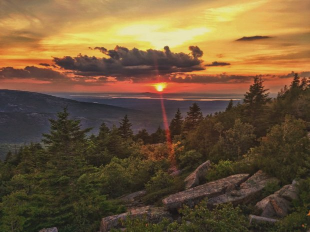Another sunset, another gorgeous day over at Acadia National Park. Photo by Ross Blais. Tweeted by the US Department of the Interior, 5/24/17.