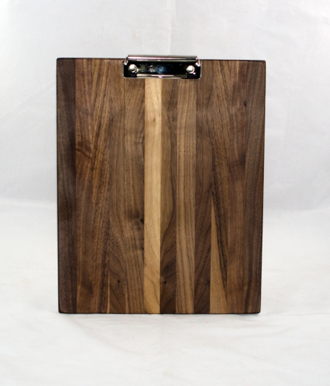 Clipboard 17 - 06. Black Walnut. Letter size. Polyurethane finish.