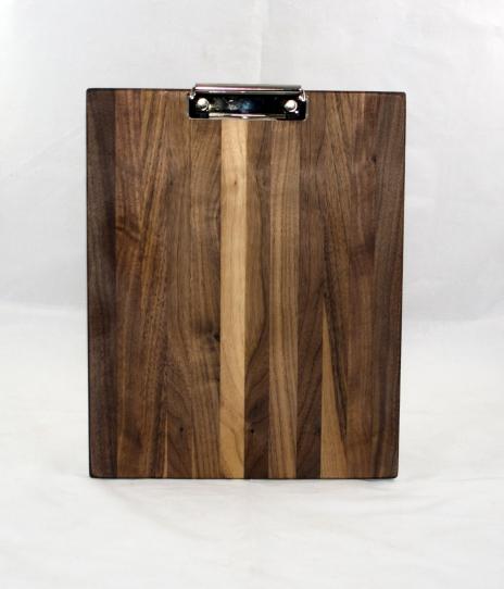 Clipboard 17 - 06. Black Walnut. Letter size. Polyurethane finish.