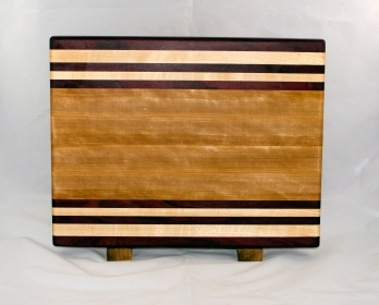 "Cutting Board 17 - 122. Purpleheart & Hard Maple. Edge Grain. 12"" x 16"" x 1-1/8""."