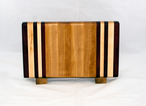 "Small Board 17 - 220. Purpleheart & Hard Maple. Edge Grain. 7"" x 12"" x 1-1/8""."