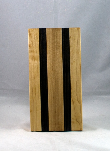 "Serving Piece 17 - 806. Hard Maple & Black Walnut. 12"" x 6"" x 1-1/8""."