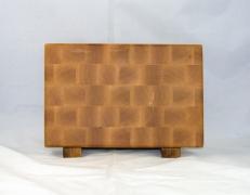 """Small Board 17 - 225. Hard Maple. End grain. 7"""" x 11"""" x 1""""."""