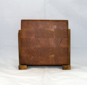 "Small Board 17 - 227. Really small. Cherry. End grain. 7"" x 7"" x 1""."