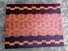 "Cutting Board 17 - 430. Purpleheart, Hard Maple & Pau Ferro. 14"" x 21"" x 1-1/2""."