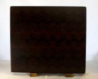 "Cutting Board 17 - 434. Black Walnut, Padauk, Pau Ferro & Jatoba. End Grain. 14"" x 15"" x 1-1/4""."