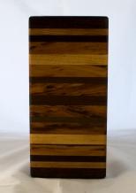 "Small Board 17 - 236. Goncalo Alves, Jatoba, Black Walnut, Honey Locust & Cherry. 6"" x 14"" x 1-1/4""."
