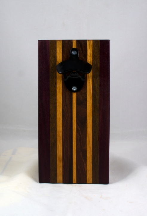 Magic Bottle Opener 17 - 919. Pau Ferro, Jatoba & Cherry. Single Magic = Wall mount only!