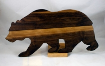 """Bear 17 - 01. Black Walnut. 10"""" x 19"""" x 3/4""""."""