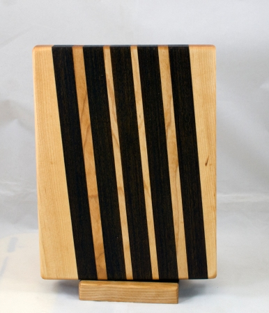 "Small Board 17 - 239. Hard Maple & Jatoba. 7"" x 10"" x 1-1/8"". A pig had to die to make this small board."