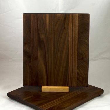 """Cheese Board 17 - 345. Black Walnut. 9"""" x 11"""" x 3/4""""."""