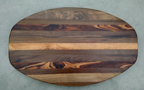 Cheese & Cracker Server 17 - 12. Black Walnut, & Goncalo Alves.