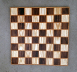 Chess 17 - 309. Ash, Black Walnut & Cherry.