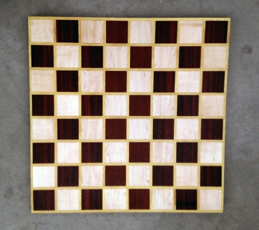 Chess 17 - 312. Hard Maple, Padauk & Yellowheart.